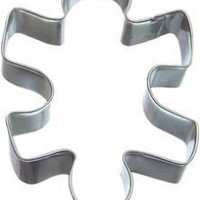 1 X Puzzle Piece Cookie Cutter 4 In.