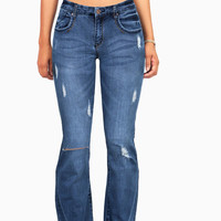 On the Edge Slim Flare Jeans