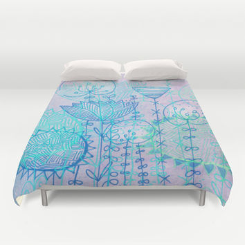 lilac dream Duvet Cover by Marianna Tankelevich