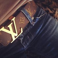 Louis Vuitton Ceinture LV Monogram Leather Belt