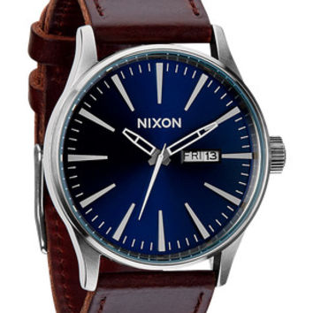 The Sentry Leather   Men's Watches   Nixon Watches and Premium Accessories