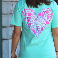 We Heart Floral Tee by SOUTHERN TREND {Island Reef}