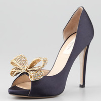 Jewelry-Bow Couture dOrsay Pump, Marine