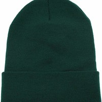 Beanie For Women and Men Unisex Cuffed Plain Skull toboggan Knit Hat and Cap
