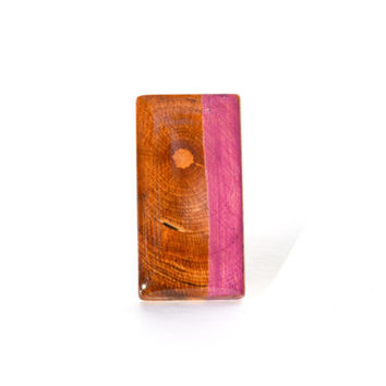 Cherry blossom striped statement ring. Stained wood statement ring. Rectangle ring. Starlight woods. Eco friendly jewelry.
