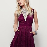Free People Womens Lovely in Love Mini Dress
