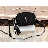 ysl women leather shoulder bag satchel tote bag handbag shopping leather tote crossbody satchel shouder bag 186
