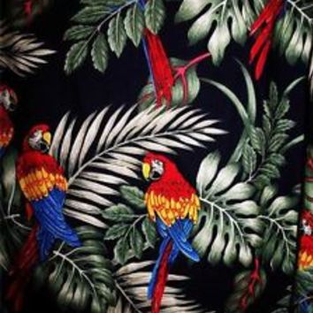 PACIFIC LEGEND HAWAIIAN SHIRTS VINTAGE  PARROTS COTTON !SIZE 2XL!MADE IN USA