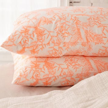 Delicate Botanical Pillowcase Set   Urban Outfitters