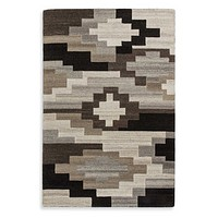 Neutral Wool and Cotton Geometric Rug 8'x10' | Andrew Martin Shrine