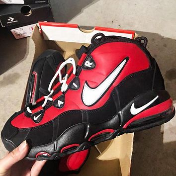 Bunchsun NIKE AIR MAX UPTEMPO 95 Fashion New Hook Men High Top Running Sports Leisure Shoes