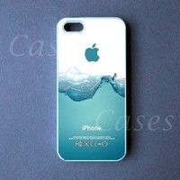 CUSTOM IPHONE 5 5s CASE Watersplash Iphone 5 5s Cover Funny LOVELY Pretty Cute BEST Rubber Protective Iphone 5 5s case,