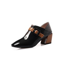 Pointed Toe British Style Middle Heel Women Shoes