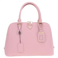 Prada Women's Cowhide Shell Trumpet Handbag (light pink)