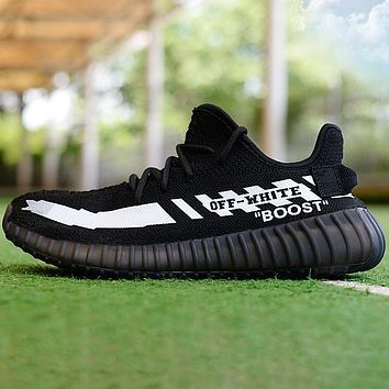 Vsgirlss Adidas Yeezy Off White Contrast Shoes  Boots Sneakers Black
