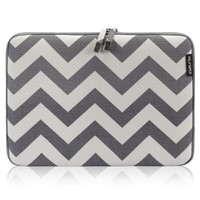 "Runetz - Chevron GRAY Soft Sleeve Case Cover for Newest MacBook 12-inch & MacBook Air 11.6"" Laptop - Chevron Gray"