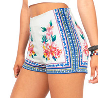 Tropic Trip High Waist Shorts