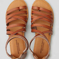 AEO Back Zip Sandal , Brown