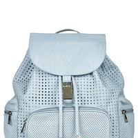 Topshop Perforated Faux Leather Backpack
