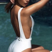 Tropez One piece V deep Swimsuit in 3 colors