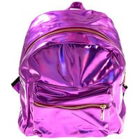 Pastel Goth • Subculture • Alternative • Emo • Punk • Dropouts Apparel Heavy Metal Backpack - Metallic Pink