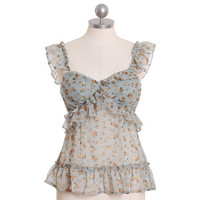 sailing the sky floral tank - $32.99 : ShopRuche.com, Vintage Inspired Clothing, Affordable Clothes, Eco friendly Fashion