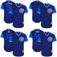 Mens Chicago Cubs Jersey 9 Javier Baez El Mago 17 Kris Bryant KB 44 Anthony Rizzo Tony 2017 Players Weekend Baseball Jerseys Cheap