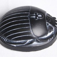 Scarab Palm Sized Small Egyptian Statue 2.5L