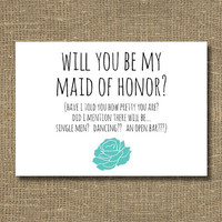 Will You Be My Maid of Honor Have I Told You by RockCandieDesigns