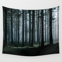 Mystery forest Wall Tapestry by Tomas Hudolin