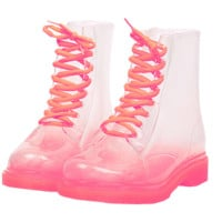 PINK CLEAR BOOTS