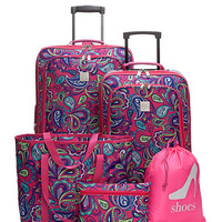 New Directions® 5-Piece Pink Paisley Luggage Set