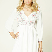 Contemporary Floral Swing Dress