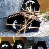 Coffin Coasters, Coaster, Monsters, Classic Monsters, Universal Monsters, Coffin, Halloween, Spooky
