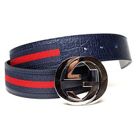 Gucci Belt 105 - Calfskin Striped 115 cm x 4 cm