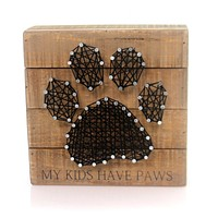 Home & Garden MY KIDS HAVE PAWS Wood String Art Dog Cat 30463