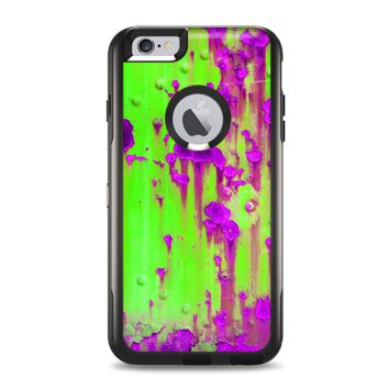 The Lime Green Metal with Hot Purple Rust Apple iPhone 6 Plus Otterbox Commuter Case Skin