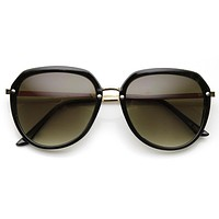 Oversize 1980's Womens Fashion Retro Square Sunglasses 9294