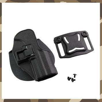 HK USP Compact Tactical Hunting Holster Military Army Belt Paddle Loop Gun Holster CQC RH Type