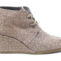 Toms Shoes Desert Wedge (Taupe Moroccan) Shoes Womens Shoes at 7TWENTY Boardshop, Inc