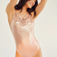 Out From Under Julia Metallic Bodysuit   Urban Outfitters