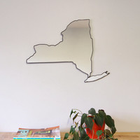 New York Mirror / Wall Mirror State Outline Silhouette