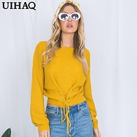 2018 Autumn Winter Casual Pullover Knitted Sweater Women Tops Shirt Women Sweaters Pullovers 5 Colors WG09