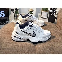 Nike Air Monarch fashionable big hook shoes for men and women with big soles