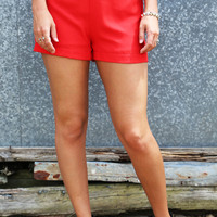 Aztec Basic Shorties {Red}