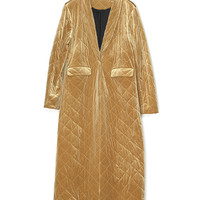 Gold Velvet  Long Coat