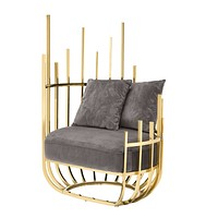 Gold Throne Accent Chair | Eichholtz Santorini - L