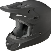 Fly Racing Kinetic Solid Matte Black Adult MX Motocross Riding Helmet