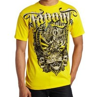 TapouT Men's Rising Eagle Crew Neck Tee, Yellow, X-Large