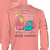 "Simply Southern ""Sugar And Spice"" Longsleeve- Coral"